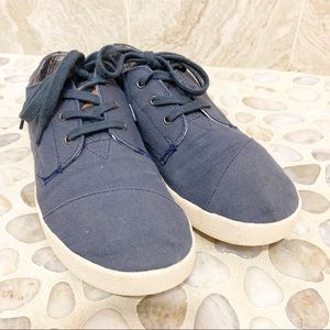 TOMS Cordones Heritage Navy Canvas Lace-Up Sneaker